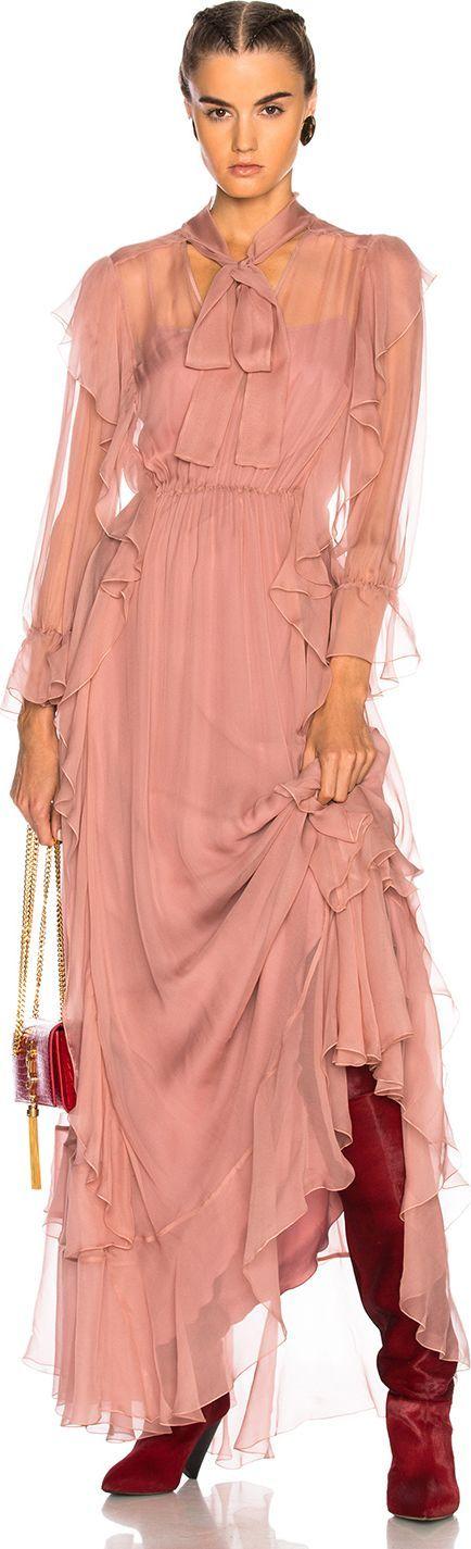 Alberta Ferretti Ruffle Gown