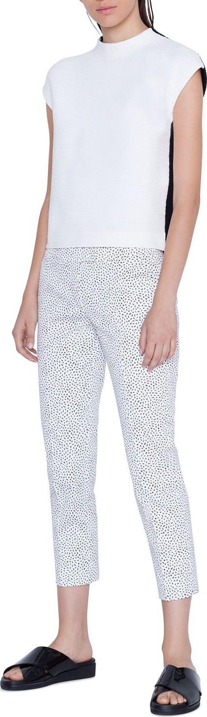 Akris Punto Frankie Memphis Pastina Printed Cropped Mid-Rise Pants
