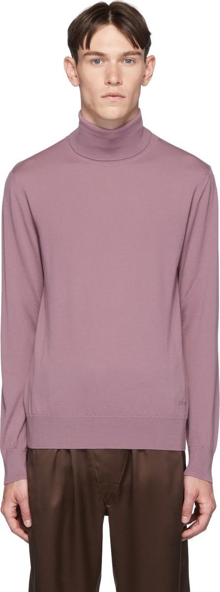 Brioni Pink Cashmere Classic Turtleneck