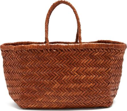 Dragon Diffusion Triple Jump woven-leather basket bag