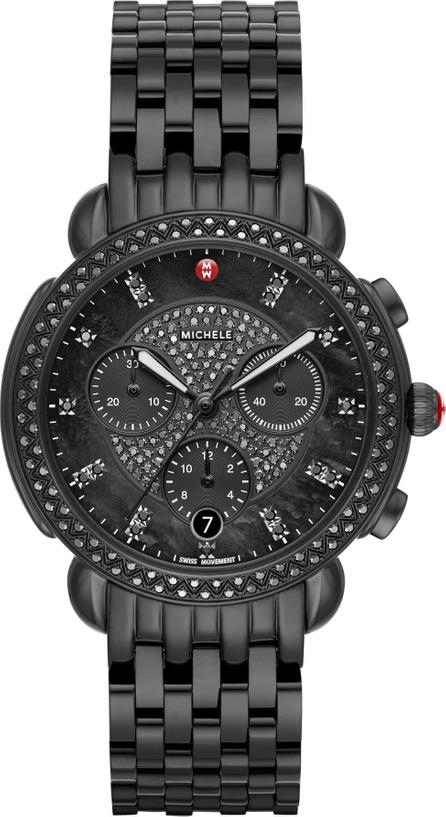 MICHELE Sidney Chronograph Diamond Bracelet Watch, 38mm