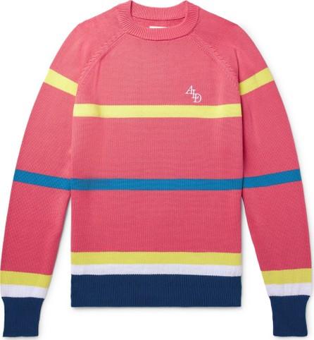 Aimé Leon Dore Logo-Embroidered Striped Cotton Sweater