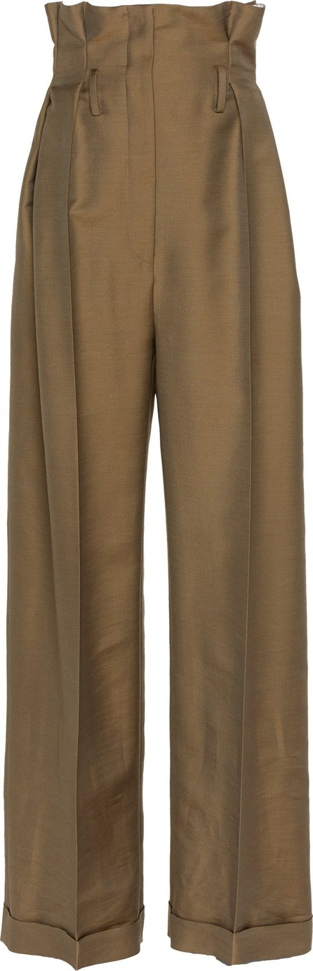 Acne Studios Perrie High-Waisted Wool-Blend Twill Trousers