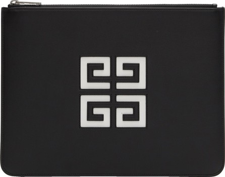 Givenchy Black Large 4G Zipped Pouch