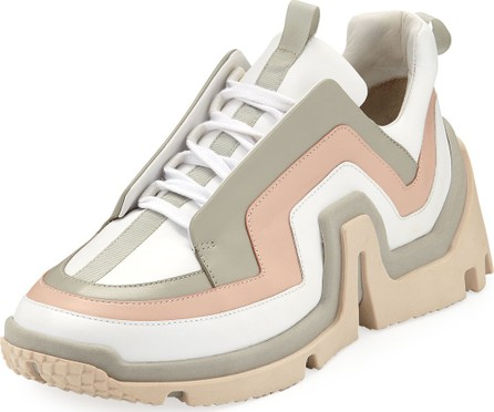 Pierre Hardy Vibe Mixed Leather Sneakers