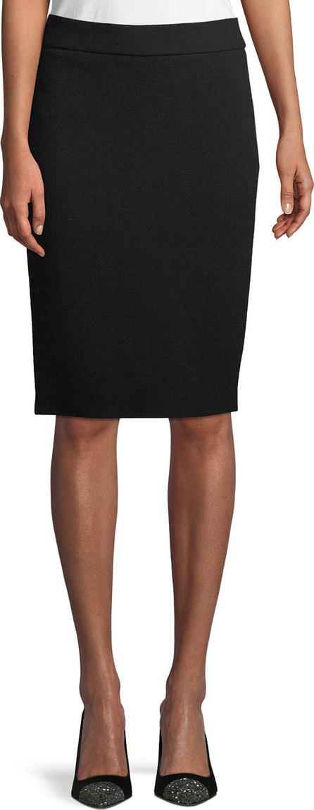 Emporio Armani Wool Crepe Pencil Skirt