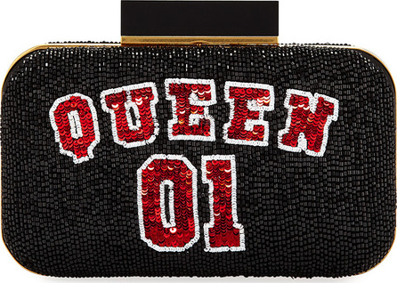 Alice + Olivia Shirley Queen 01 Beaded Clutch Bag