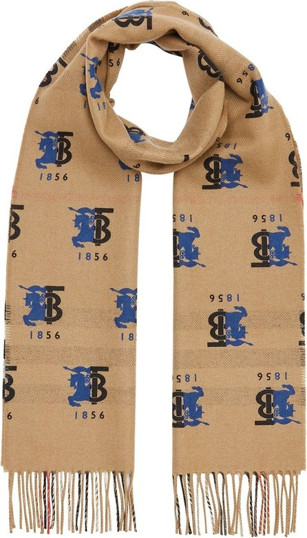 Burberry London England Contrast logo graphic scarf