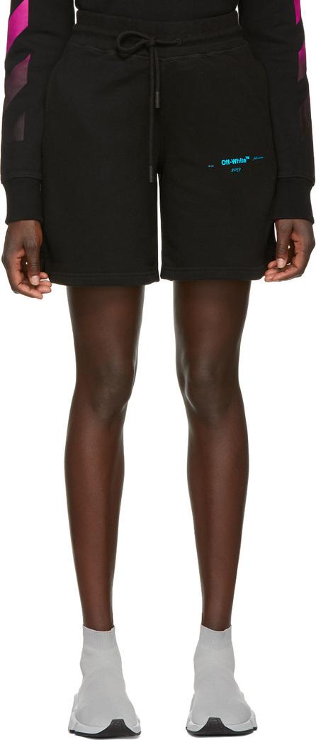 Off White Black Gradient Shorts