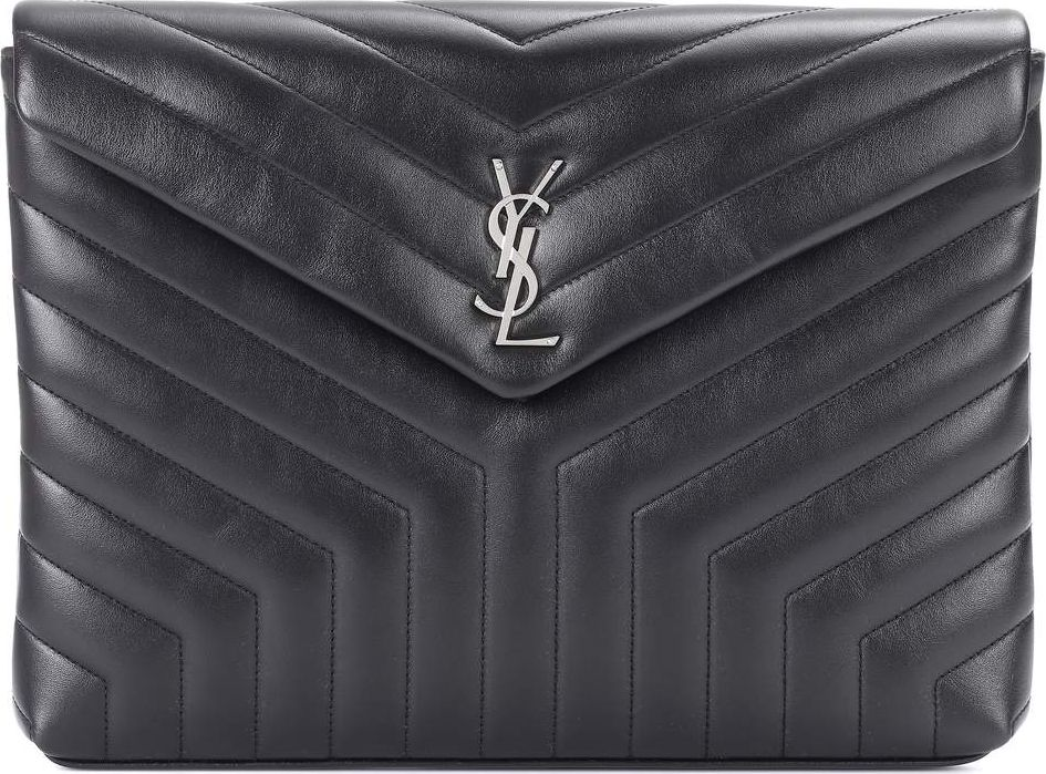 Saint Laurent - Loulou matelassé leather clutch