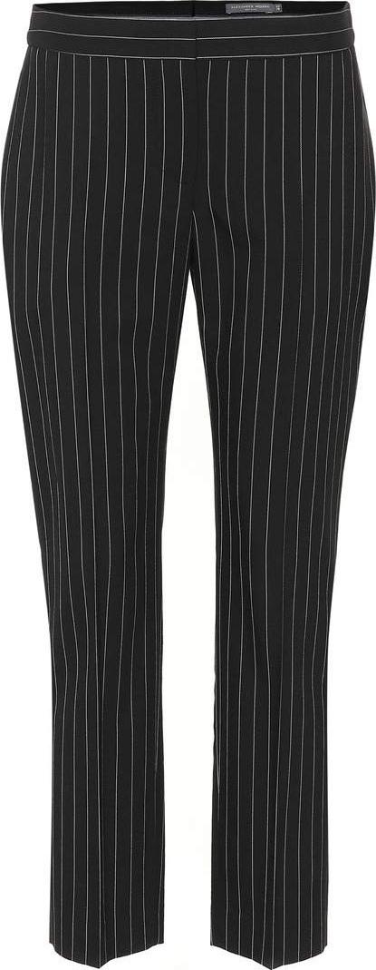 Alexander McQueen Pinstriped wool-blend pants