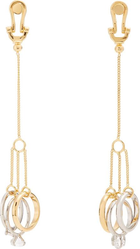 Jil Sander Crystal-embellished ring-drop earrings