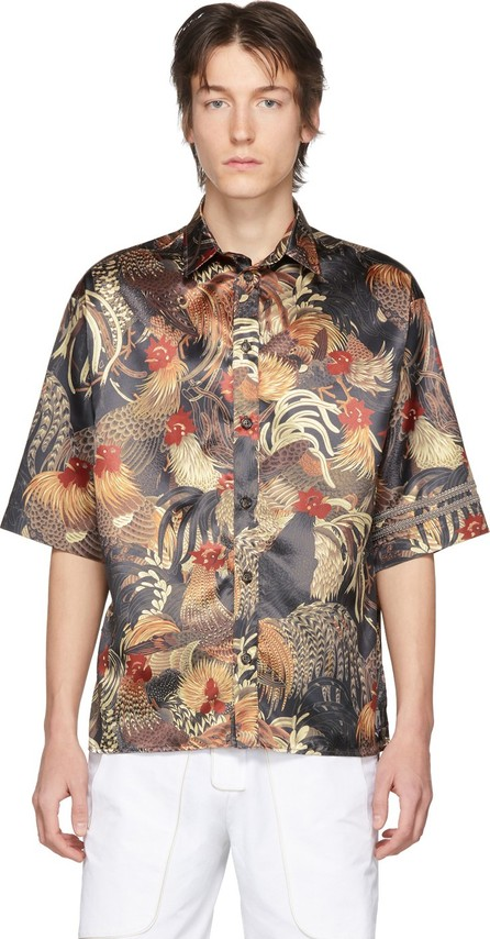 Boramy Viguier Black Printed Short Sleeve Shirt