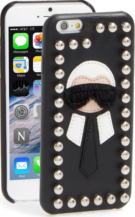 Fendi Karlito Genuine Mink Fur & Leather iPhone 6/6s Case