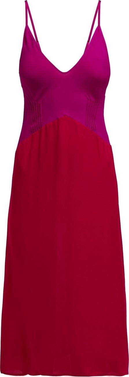 Araks Cadel pintuck silk crepe de Chine slip dress