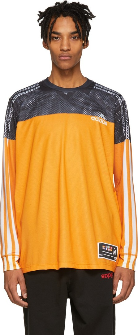 Adidas Originals by Alexander Wang Black & Yellow Photocopy Sweater