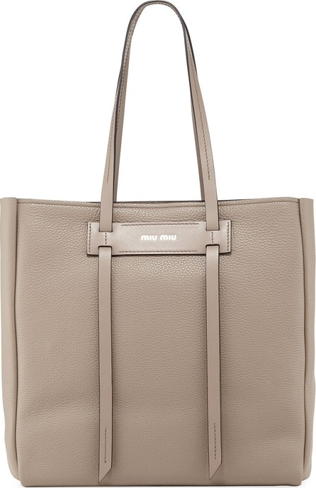 Miu Miu Daino Double-Handle Tote Bag