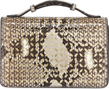 Alaïa Python Cutout Crossbody Clutch Bag