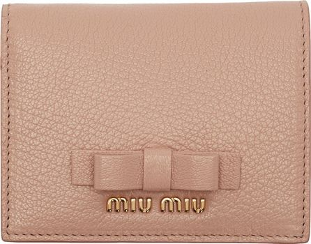 Miu Miu Pink Bow French Wallet