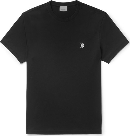 Burberry London England Logo-Embroidered Cotton-Jersey T-Shirt