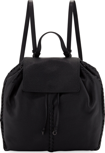 Bottega Veneta Cervo Leather Flap Backpack