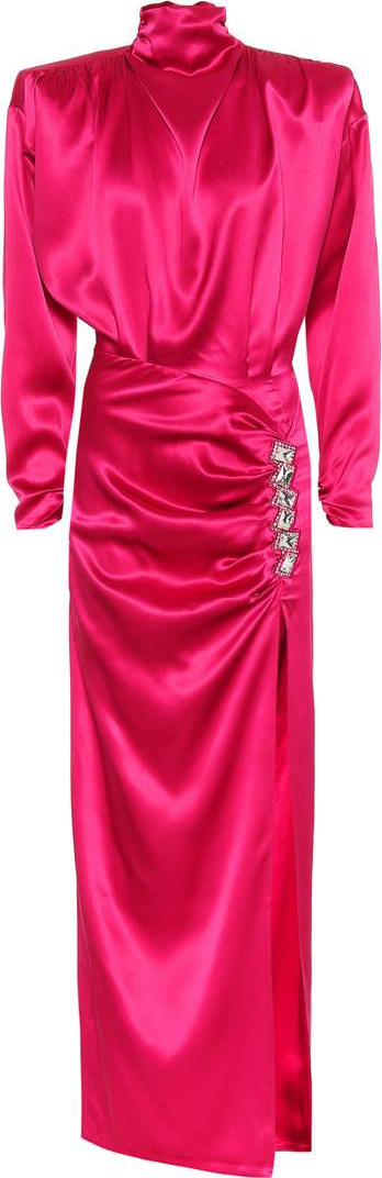 Alessandra Rich Embellished silk-satin dress