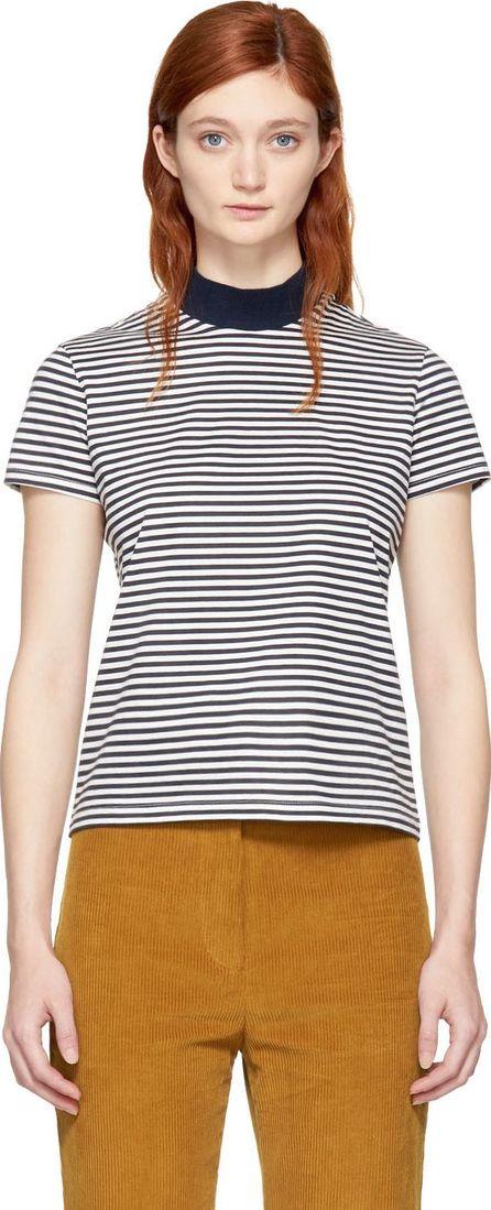 Harmony Navy & Ecru Striped Tiphaine T-Shirt