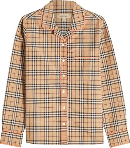 Burberry London England Printed Cotton Shirt