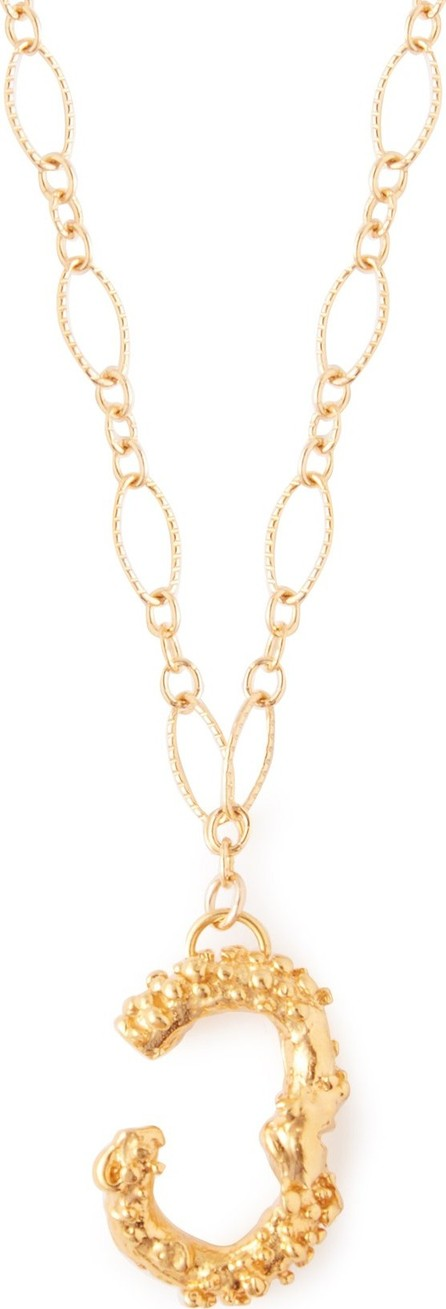 Alighieri Lucky Number 3 24kt gold-plated necklace