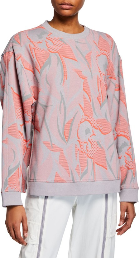 Adidas By Stella McCartney Floral Print Sweatshirt w/ Zippers