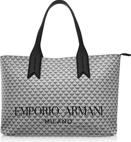 Emporio Armani Ice and Black Eagle Print Tote Bag