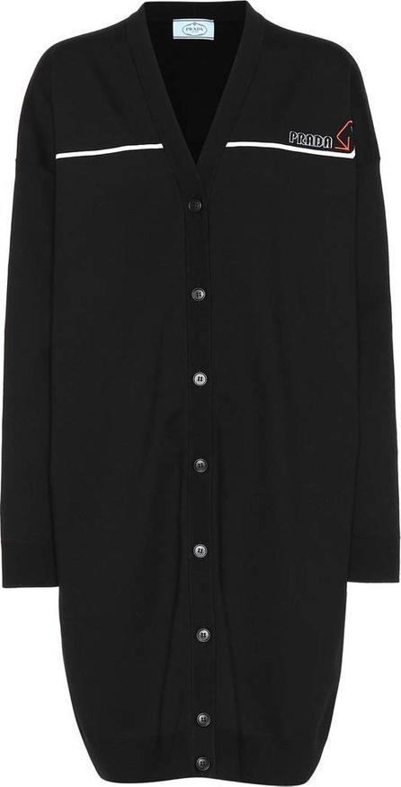 Prada Oversized stretch wool cardigan