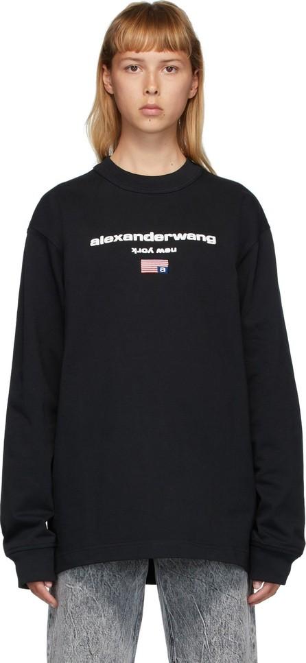 Alexander Wang Black Flag Graphic Long Sleeve T-Shirt