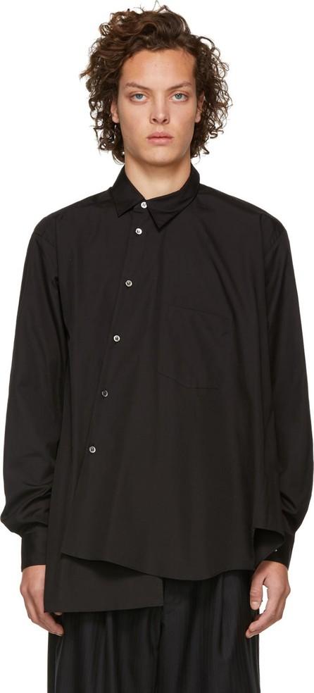 Comme Des Garçons Homme Plus Black Asymmetrical Shirt