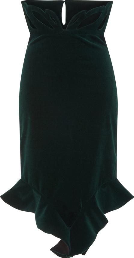 Francesco Scognamiglio High Waisted Velvet Skirt