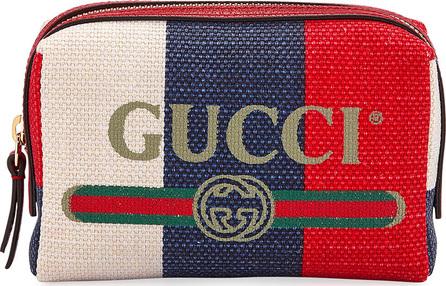 Gucci Linea Merida Canvas Striped Cosmetics Bag