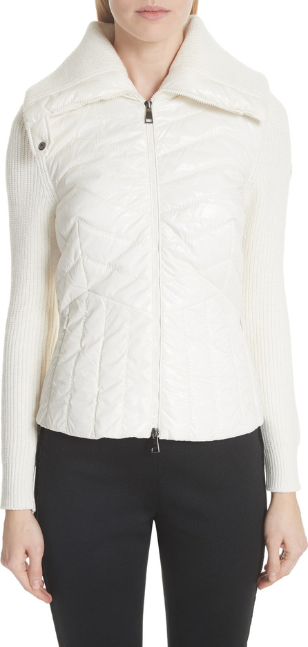 Moncler Quilted Front Cardigan