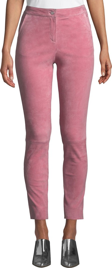 Nour Hammour Skinny-Leg Suede Jeans