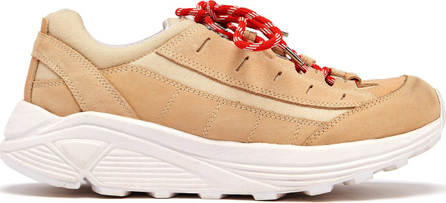 Ganni Lace-up suede trainers