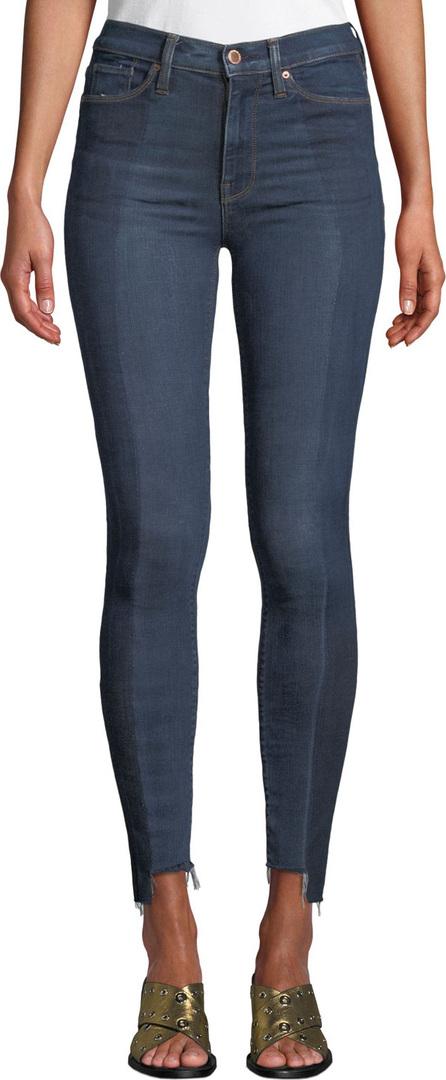 Hudson Barbara High-Rise Skinny Step-Hem Ankle Jeans - Enhance Denim