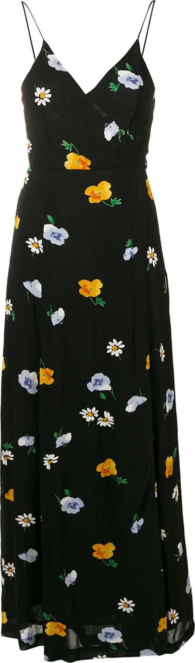Ganni Floral flared maxi dress
