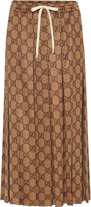 Gucci GG cotton-blend midi skirt