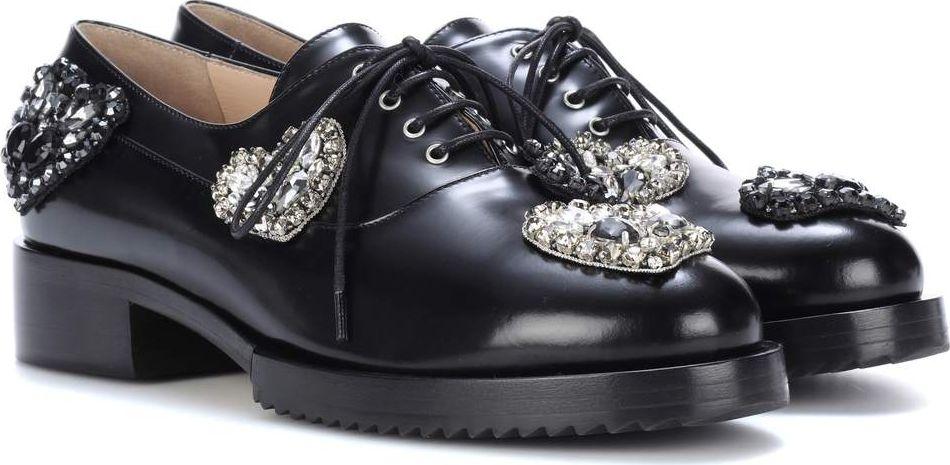 N°21 - Lena embellished leather Oxford shoes