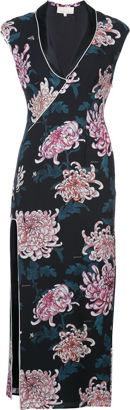 Fleur Du Mal V-neck slit dress