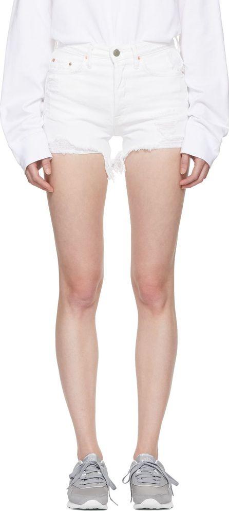 Grlfrnd White Denim Helena Shorts