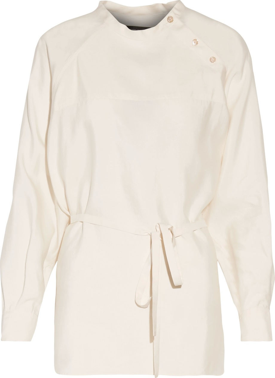 Isabel Marant - Pari belted silk-satin top