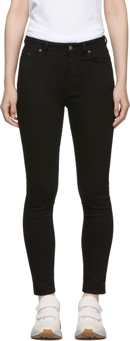 Acne Studios Blå Konst Black Peg Jeans