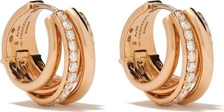 de GRISOGONO 18kt rose gold coil diamond hoops