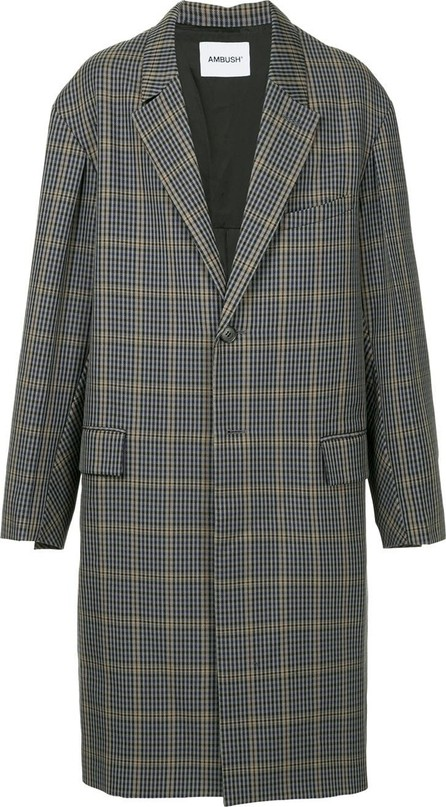 Ambush Single-breasted check coat