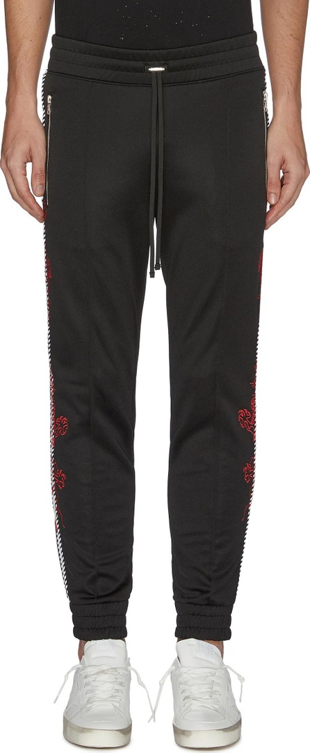 Amiri Dragon graphic embroidered stripe outseam jogging pants